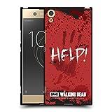 Head Case Designs Offizielle AMC The Walking Dead Help Zitate Soft Gel Hülle Schwarz für Sony Xperia XA1 Ultra/Dual