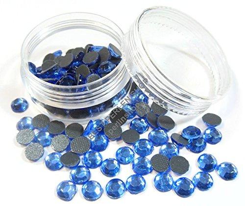 150 STK SS30 6mm Saphir BLAU Glas Hotfix Strasssteine mit Perlen Box DIY 243 (6mm Blau Saphir)