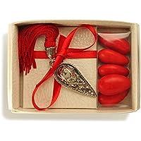 Bomboniera Store - Bomboniera Cappello laurea Con packaging e con nappina blu per Laurea
