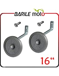 'Couple stabilisateurs–Roulettes–Guide vélo 16–1trou fileté M8+ vis