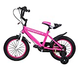 MuGuang 14 Pulgadas Bicicleta Infantil Estudio Aprendizaje Montar a Caballo Bicicleta niños niñas Bicicleta...