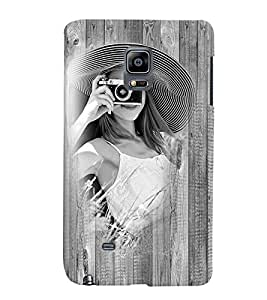 Fuson 3D Printed Girly Designer back case cover for Sansung Galaxy Note Edge - D4448