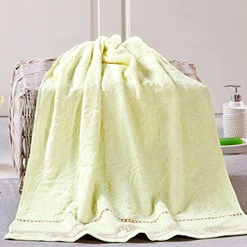 Reine Baumwolle jacquard Wasser-saugfähiges Handtuch 140*70 cm, blau Gelb