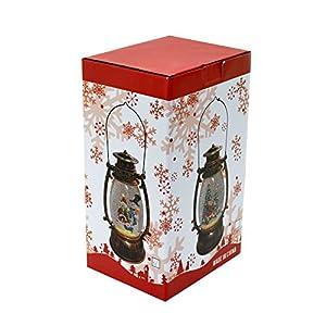 Gifts 4 All Occasions Limited SHATCHI-417 - Farol de Navidad con luces LED (25 cm), diseño navideño