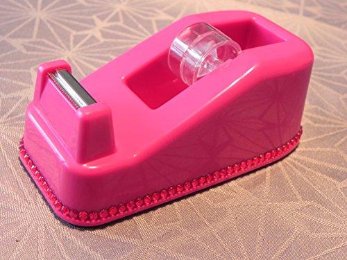Klebeband Tischabroller pink mit funkelnden Strassteinen