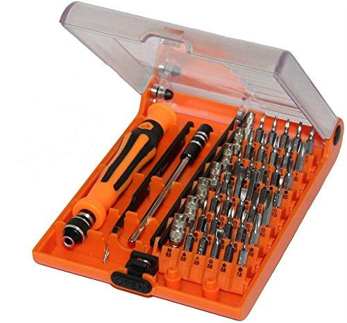 PsmGoods 45 in 1 portatile professionale strumento di precisione mano di apertura Preciso riparazione o manutenzione Kit cacciavite con pinzette & Estensione albero