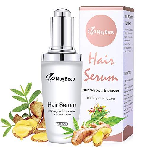 Maybeau Haarwachstum Serum Effektiv gegen Haarausfall, Stärkend, Regenerierend Haarshampoo Wachstum für Damen & Herren Wachstumsfördernd, Behandlung für Haar, - 50ml -