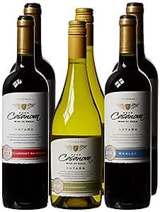Le Bon Vin Antano Estate Chilean Case Chardonnay Cabernet and Merlot Wine 2011 75 cl (Case of 6)
