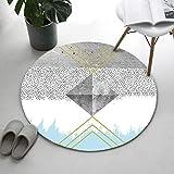 GSYDDTG Geometrische runde teppiche für Wohnzimmer Computer Stuhl Bereich Teppich Kinder Spielen Zelt bodenmatte geometrische Garderobe teppiche