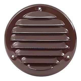 Lüftungsgitter 200mm - Rund - Braun - Abluftgitter - Wetterschutzgitter - mit Insektenschutz - aus Stahlblech, mr160b