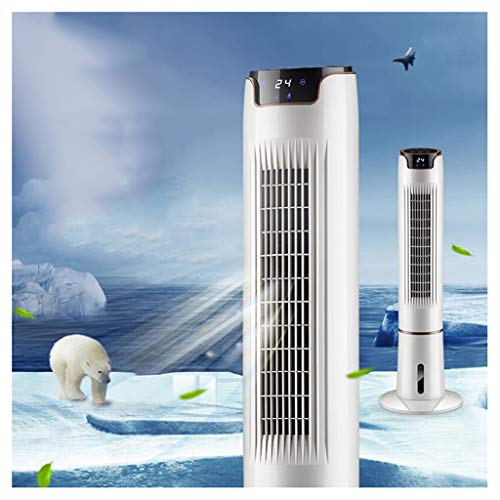 51LzISP11FL. SS500  - FHDF Electric Fan Tower Cooling Air Conditioning Refrigeration Home Remote Control Humidification Cooler Vertical Mute Floor Timing Leafless With Ice Crystal Water White Touch