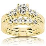 Kobelli  -  14 Kt  Weißgold Runder Brilliantschliff   Leicht Getöntes Weiß/Top Crystal (I) Feines Weiß/Top Wesselton (G) - Weiß/Wesselton (H) Diamant