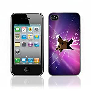 Pour Apple iPhone 4 / 4S ( Pedobear Peeking ) Coque Housse Etui Case Rigide Hard Noir
