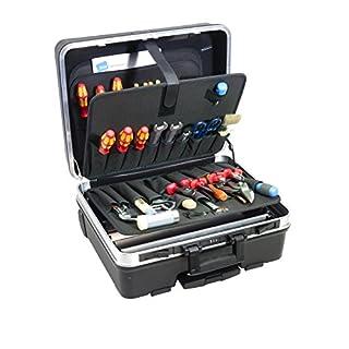 B&W International GmbH Unisex's BW12004P Tool case Set Go 48,5x20x37,5 cm 9-Piece, Black/Silver, 48.5 x 20 x 37.5 cm