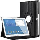 """Bingsale 360° Housse en cuir pour Samsung Galaxy Tab 4 Tablette Tactile 10.1"""" SM-T530/SM-T531/SM-T525 avec rabat/stand de positionnement support et le sort de veille (samsung galaxy tab 4 10.1, noir)"""