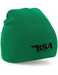 Taurus BSA Motorcycles Embroidered Beanie Wooly Hat Winter Fashion