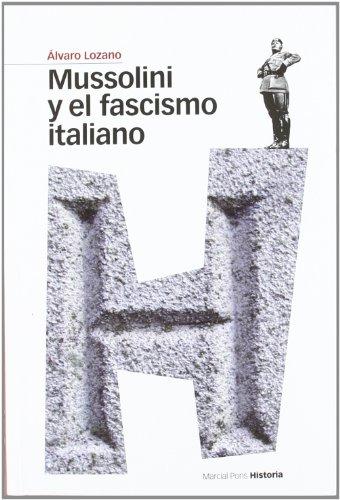 Portada del libro MUSSOLINI Y EL FASCISMO ITALIANO (Estudios Maior)