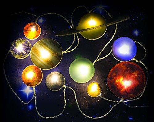 Lichterkette SOLAR SYSTEM mit 10 Planeten