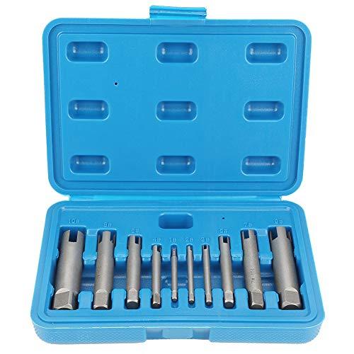 Gewindebohrer-Auszieher - Gebrochener Stahlgewindebohrer-Entferner Abgezogener Gewindebohrer-Ausziehersatz (Größe : 10PCS)