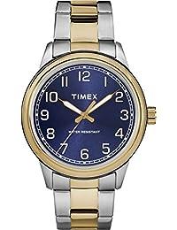 Timex TW2R36600 Herren-Armbanduhr mit Quarz-Uhrwerk, Analoganzeige und Edelstahl-Uhrenband.