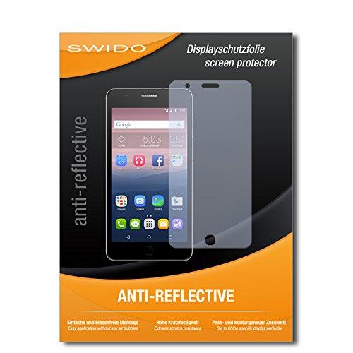 SWIDO Bildschirmschutz für Alcatel One Touch Pop Up [4 Stück] Anti-Reflex MATT Entspiegelnd, Hoher Härtegrad, Schutz vor Kratzer/Glasfolie, Schutzfolie, Bildschirmschutzfolie, Panzerglas Folie