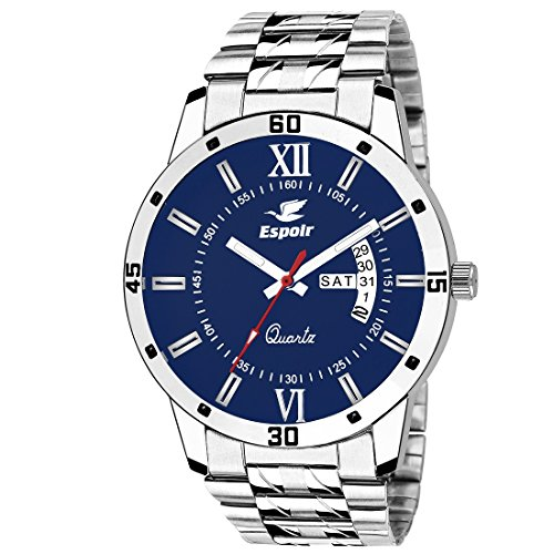 Espoir Analog Blue Day and Date Dial Men's Watch A0507-B