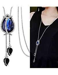 Shining Diva Fashion Jewellery Pendants for Girls with Long Chain Pendent Party Western Wear Stylish Necklace for Women & Girls(Silver)(9270np)