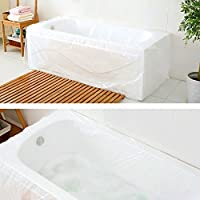 TFY Ultra Large Disposable Film Bathtub Bag for Salon, Household and Hotel Bath Tubs (78 inch x 47 inch) - 5 Pieces by TFY