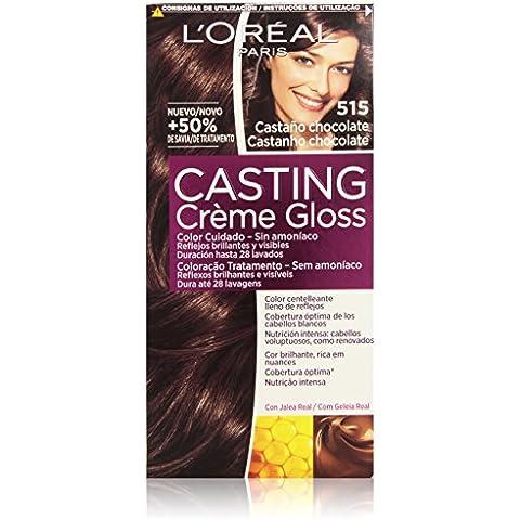 L'Oréal Paris Casting Créme Gloss Coloración Sin Amoniaco, Tono: 515 Castaño Chocolate - 180 ml