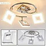 """LED Deckenspot """"Spirale"""" in Chrom mit 3 verstellbaren Leuchtenköpfen -"""