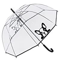 Susino Clear Walking Umbrella - Frenchie - French Bulldog