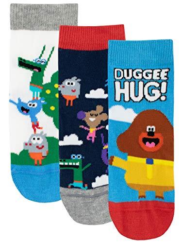 Hey Duggee Calcetines Paquete de 3 para Niños Club de las Ardillas Multicolor 20/23