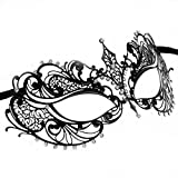 RXBC2011 Party Maskerade Glamorous Sexy Maske Halloween Karneval Black Metal Mask