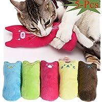 Legendog Spielzeug mit Katzenminze, 5 Stück Niedlich Plüsch Daumen Geformt Katzenspielzeug Katzenminze Set   Katzenspielzeug Beschäftigung   Spielzeug Katze   Spiele für Katzen Kitten (1#)
