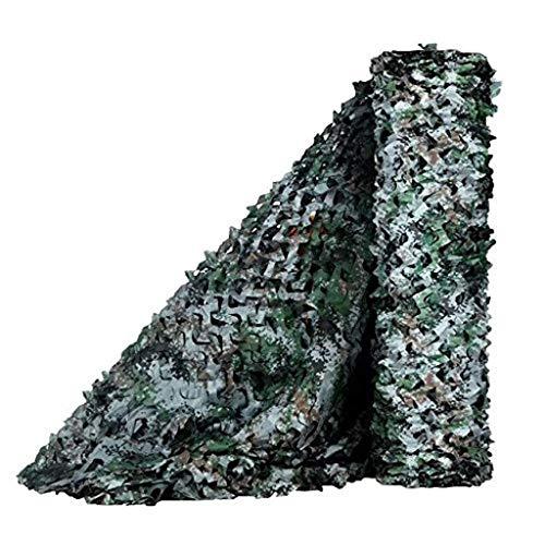 Wald Grün Schatten Tuch (WZHCAMOUFLAGENET Dschungel Tarnnetz Oxford Tuch Tarnnetz Dekoration Outdoor Camping Versteckt Fotografie Schatten Wald Wan CS Simulation Dekoration Multi-Größe Optional (Farbe : D, größe : 3 * 4m))