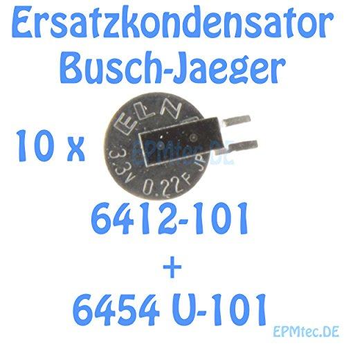 Image of 10x Ersatzkondensator Busch-Jaeger Timer 6412-101 6454 U-101 ELNA Kondensator 0,22 F DCK-3R3RE224U-E SMD wie GoldCap