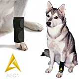 #2: Agon Dog Canine Front Leg Brace Paw Compression Wraps with Protects Wounds Brace Heals and Prevents Injuries and Sprains Helps with Loss of Stability Caused by Arthritis (Large/X-Large)