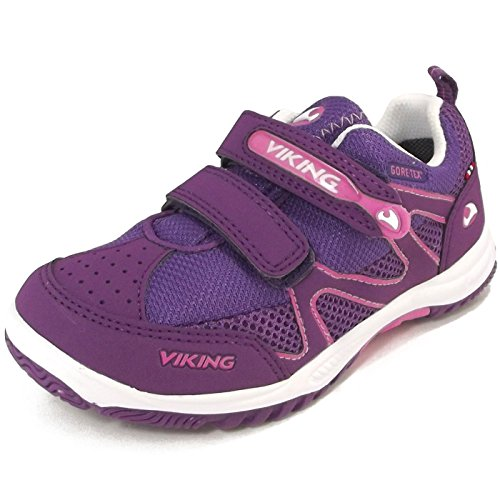 Viking Cascade Gtx, Baskets Basses mixte enfant violet/pink (purple/dk.pink)