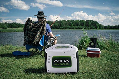 Atima Inverter Groupe électrogène Générateur Onduleur Portable Silencieux à Essence 2000W SD2000i