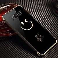 Shinyzone Samsung Galaxy S8 Plus Spiegel Hülle,Schwarz Lächelndes Gesicht Muster Luxus Galvanisieren Technologie... preisvergleich bei billige-tabletten.eu