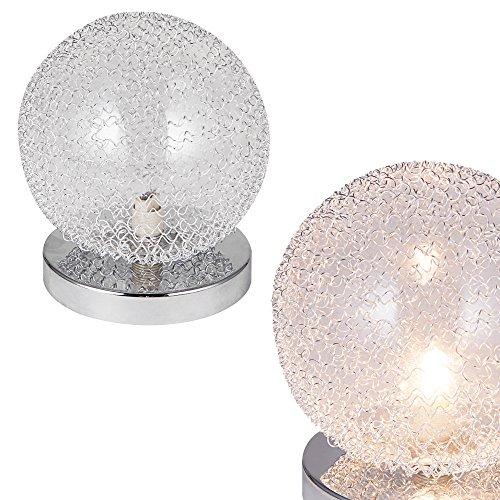 [lux.pro] Lampada da tavolo [Ø14cm] Lampada a sfera Lume Soggiorno Cromo