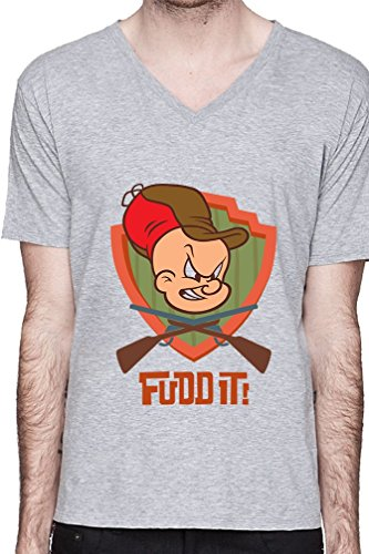 elmer-fudd-it-guns-crossed-funny-mens-v-neck-t-shirt-xx-large