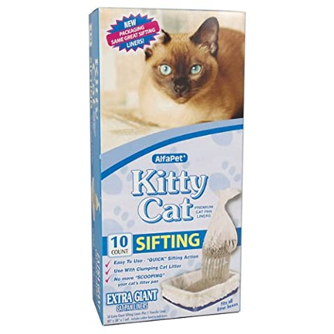Alpha Pet Kitty Cat Premium Cat Pan Liners - 10