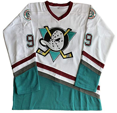 vinking Charlie Conway #96 Mighty Ducks Adam Banks #99 Movie Eishockey Trikot grün weiß - weiß - XX-Large