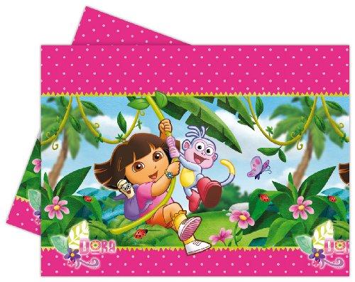 Tischdecke * DORA * für Party und Geburtstag // Nickelodeon // Kindergeburtstag Kinder Feier Fete Set Mädchen Rosa Pink Cover