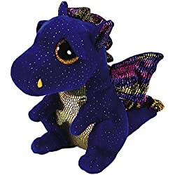TY - Beanie Boo's Saffire, dragón, 15 cm, color azul (United Labels Ibérica 36879TY)