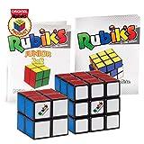 Rubik's Collection Cube   Pack de Cubes Cubes 2x2 et 3x3 Originaux, Packs de 2 Puzzles Classiques de Correspondance de Couleurs, avec Son Guide de Poche