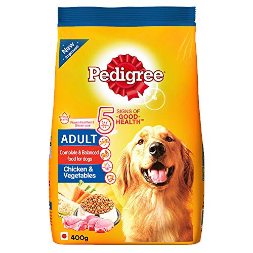 Pedigree Adult Dry Dog Food, Chicken & Vegetables, 400g Pack