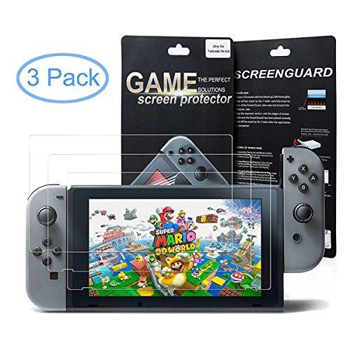 Protections écran pour Nintendo Switch - PACK de 3 Films de Protection par Transparent pour protéger l'écran de votre console Nintendo Switch