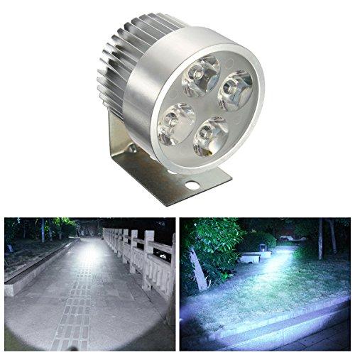 AUDEW Motorrad Scheinwerfer mit 4 Lampe Motorrad LED licht Motorrad-LED-Scheinwerfer Flutlicht Arbeitslicht Runde silber